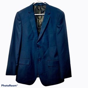 Angelo Rossi Navy Hand Tailored Suit Jacket